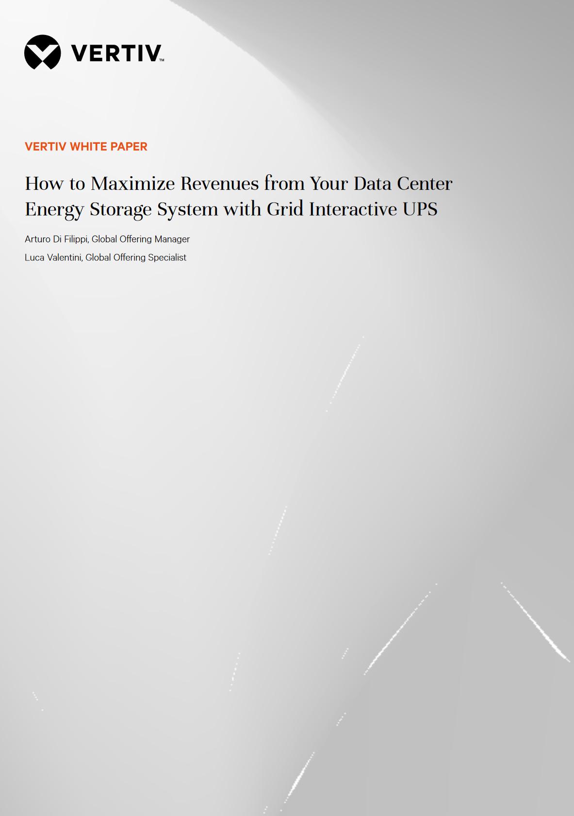 Vertiv Energy Storage White Paper